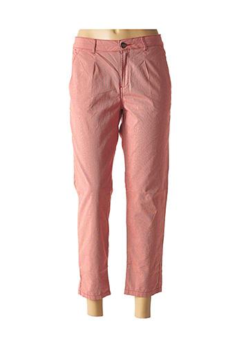 Pantalon 7/8 rouge REIKO pour femme