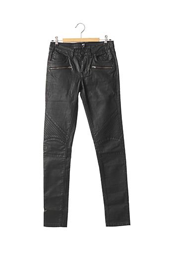 Pantalon casual noir MKT STUDIO pour femme