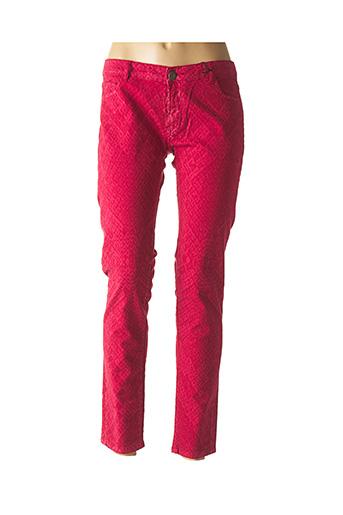Pantalon casual rouge LEON & HARPER pour femme
