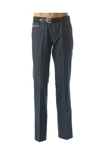 Jeans coupe droite bleu LUIGI MORINI pour homme