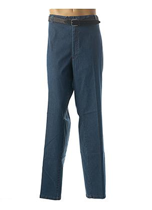 Jeans coupe slim bleu LUIGI MORINI pour homme