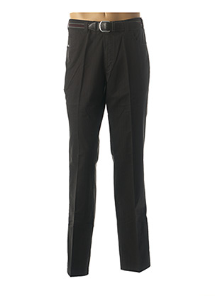 Pantalon chic noir LUIGI MORINI pour homme