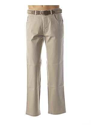 Pantalon casual beige PIONIER pour homme