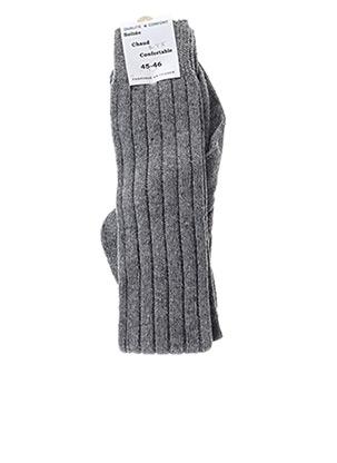 Chaussettes gris GM pour homme