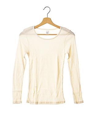 T-shirt manches longues beige ACHEL pour fille
