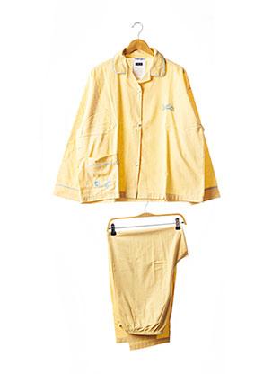 Pyjama jaune RAISON D'ETRE pour femme