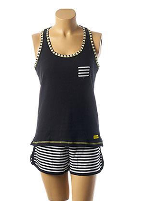 Pyjashort noir MASSANA pour femme