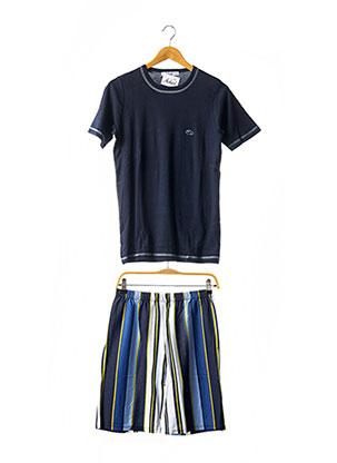 Pyjashort bleu ACHEL pour homme