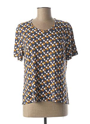T-shirt manches courtes jaune GEVANA pour femme
