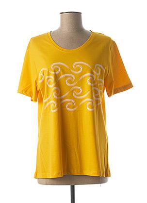 T-shirt manches courtes jaune JENSEN pour femme
