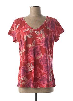 T-shirt manches courtes rouge AGATHE & LOUISE pour femme