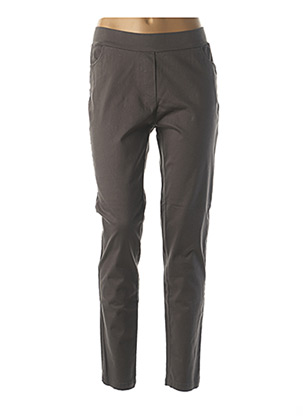 Pantalon casual gris AGATHE & LOUISE pour femme