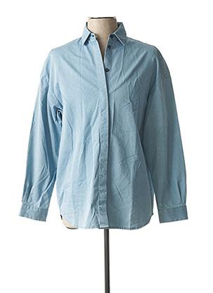 Chemise manches longues bleu FAÇON JACMIN pour homme