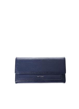 Portefeuille bleu MATT & NAT pour femme