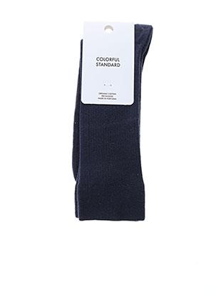 Chaussettes bleu COLORFUL STANDARD pour homme