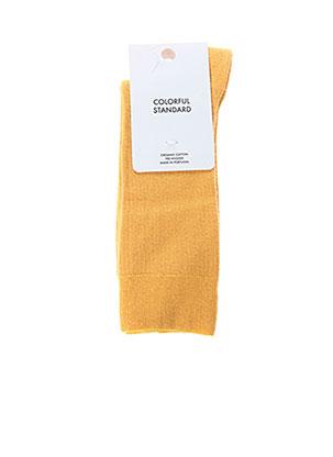 Chaussettes jaune COLORFUL STANDARD pour homme