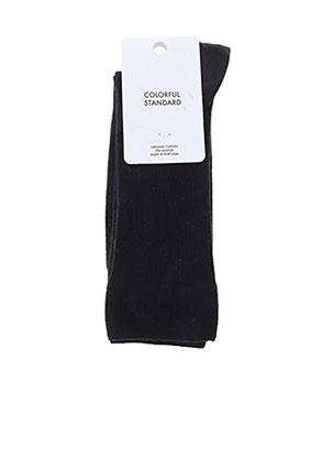 Chaussettes noir COLORFUL STANDARD pour homme