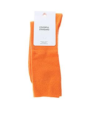Chaussettes orange COLORFUL STANDARD pour homme