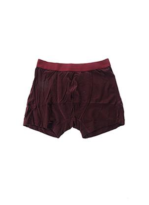 Shorty/Boxer rouge ORGANIC BASICS pour homme