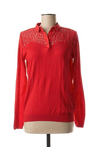 Pull col chemisier rouge KAPORAL pour femme