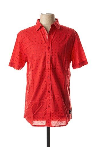 Chemise manches courtes rouge KAPORAL pour homme