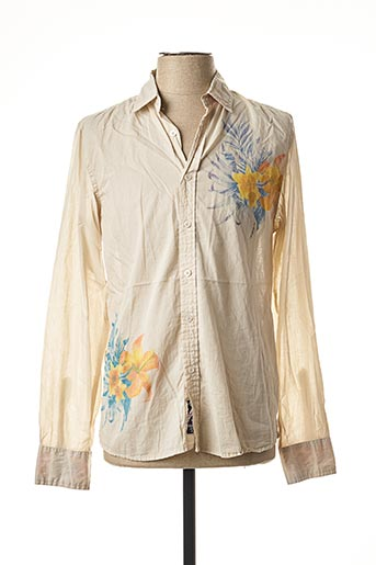 Chemise manches longues beige CROSSBY pour homme