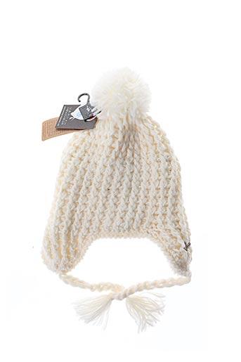 Bonnet blanc HERMAN pour fille