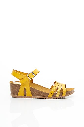 Sandales/Nu pieds jaune JORDANA pour femme