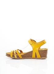 Sandales/Nu pieds jaune JORDANA pour femme seconde vue
