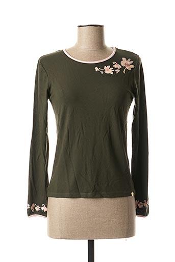 T-shirt manches longues vert PAUL BRIAL pour femme