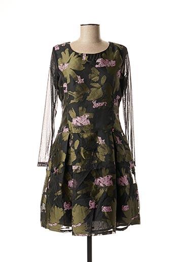 Robe courte vert PAUL BRIAL pour femme