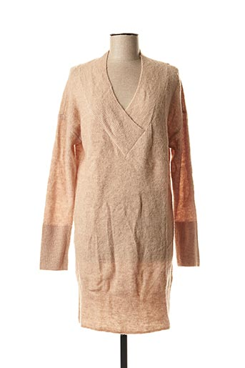 Robe pull beige YAYA pour femme