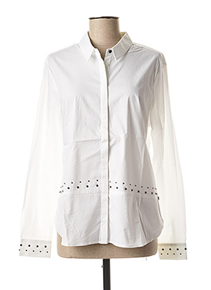 Chemisier manches longues blanc I.CODE (By IKKS) pour femme