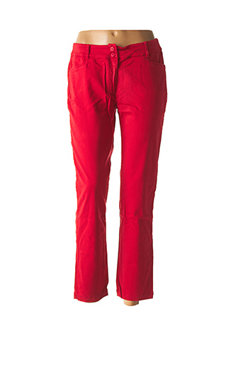 Pantalon 7/8 rouge AVENTURES DES TOILES pour femme