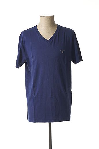 T-shirt manches courtes bleu GANT pour homme