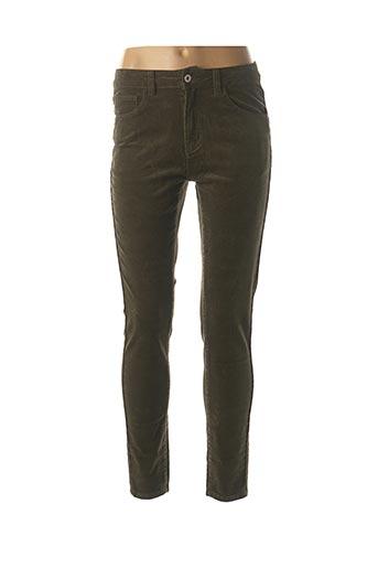 Pantalon 7/8 vert SARAH JOHN pour femme