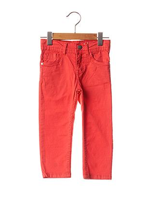 Jeans coupe slim rouge LOSAN pour enfant