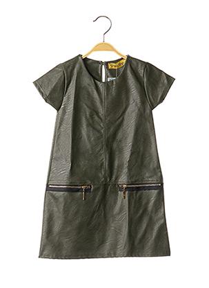 Robe mi-longue vert P'TIT MÔME pour fille
