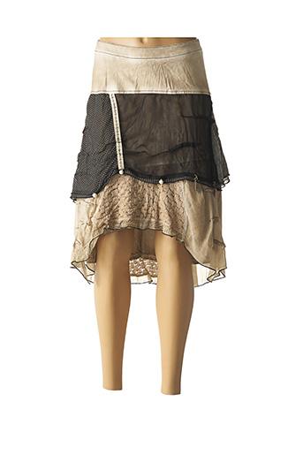 Jupe mi-longue beige ELISA CAVALETTI pour femme