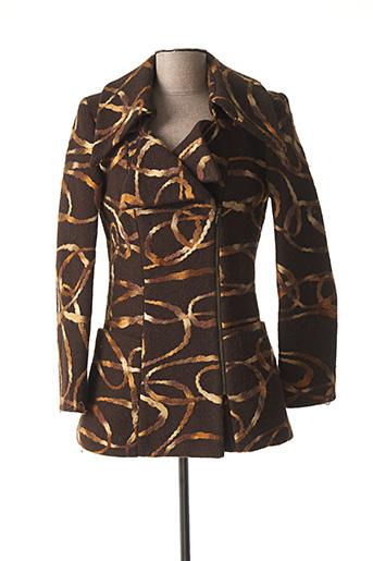Manteau court marron COTTONADE pour femme