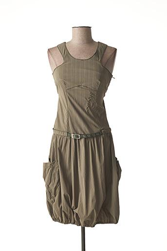 Robe mi-longue vert BAI AMOUR pour femme