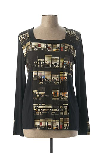 T-shirt manches longues noir AVENTURES DES TOILES pour femme