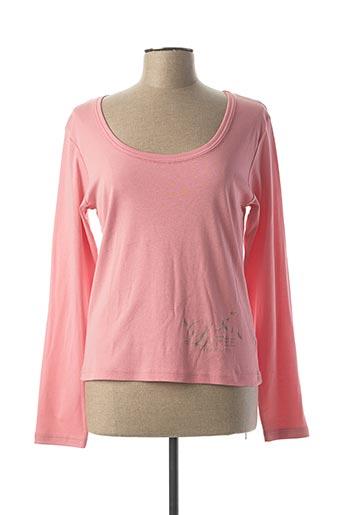 T-shirt manches longues rose LA FEE MARABOUTEE pour femme