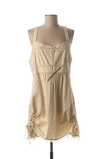 Robe courte beige SALT & PEPPER pour femme