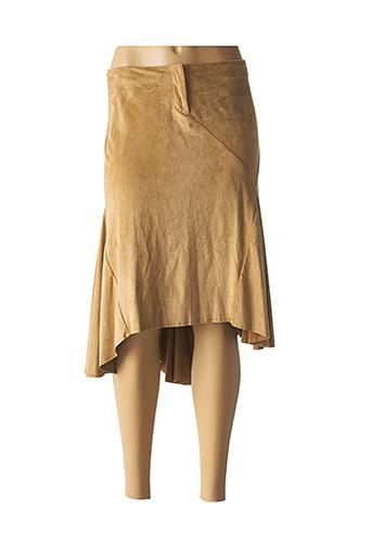 Jupe mi-longue beige GUESS JEANS pour femme