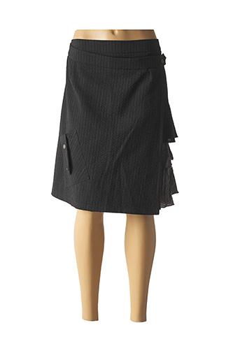 Jupe mi-longue gris COCO MENTHE pour femme