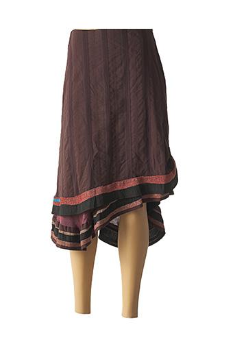 Jupe mi-longue marron ENJOY pour femme