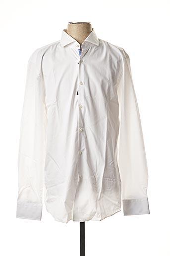 T-shirt long blanc HUGO BOSS pour homme
