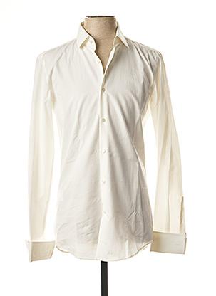 Chemise manches longues blanc HUGO BOSS pour homme