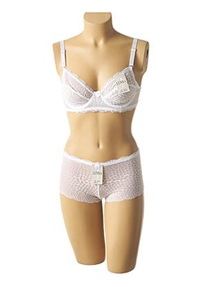 Ensemble lingerie blanc LUNNA pour femme